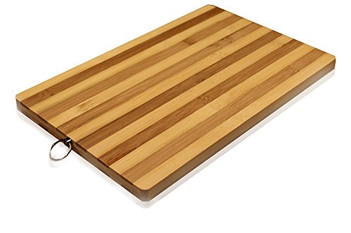 Bamboo Striped Boards - DINY Home & Style Striped Bamboo Cutting Board All Natural 10.2 x 14.2 inch Eco-friendly Strong Thick Chopping Board
