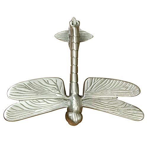 Casa Hardware Brass Dragonfly Door Knocker in Brushed Nickel Finish
