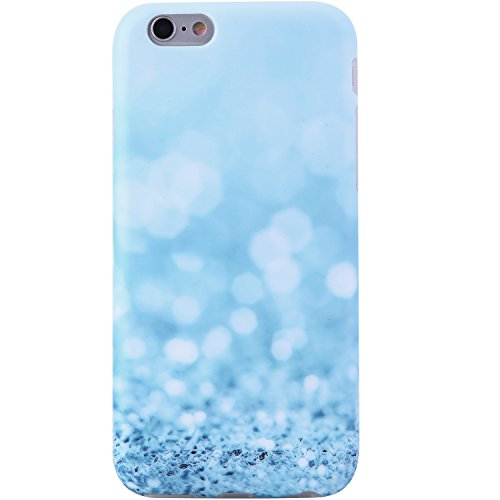 VIVIBIN iPhone 6 Case,iPhone 6s Case,Cute for Women Girls Clear Bumper Best Protective Soft Silicone Rubber Matte TPU Cover Slim Fit Best Phone Case for iPhone 6/iPhone 6s (Sparkle Blue Crystals)