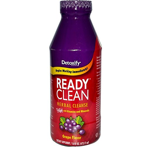 10 Pack - Detoxify Ready Clean Herbal Cleanse 16 Fl Oz Grape Flavor with Free Im Baked Bro and Doob Tubes Sticker by Detoxify