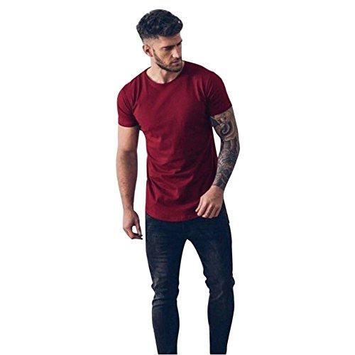Kinlene Camisa Casual para Hombre con Cuello Redondo y Blusa con ...