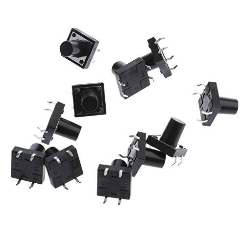 約12x12x11mm PCBマウント モーメンタリ プッシュボタン 触覚タクトスイッチ 電子製品 デジタル製品適用