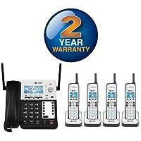 AT&T SB67118 / SB67138 SynJ 4-Line Extendable Range Corded-Cordless + (3) SB67108 Cordless Handsets