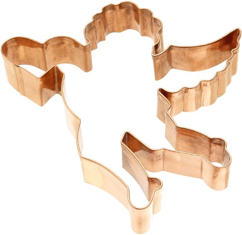 Old River Road Cupid Shape Cookie Cutter, Copper