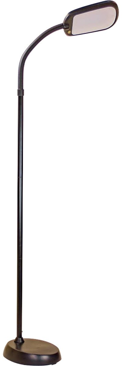HomeConcept LED101BK Led Bright Reader Natural Daylight Full Spectrum Floor Lamp New Slimmer Design, Black