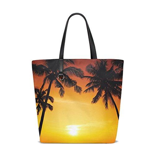 w Sea Ocean Womens'Reversible Shopping Tote Travel Bag handbag (Sham Gallon)