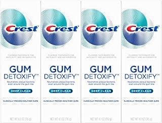 Crest Gum Detoxify Deep Clean Toothpaste, 4.1 Ounce, 4-Pack
