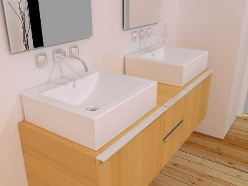 Cantrio Koncepts MMA-1916 1-Hole Solid Surface Countertop Sink by Cantrio Koncepts