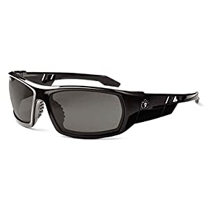 Skullerz Odin Anti-Fog Safety Sunglasses - Black Frame, Smoke Lens