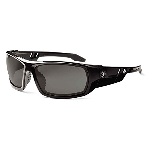 Skullerz Odin Anti-Fog Safety Sunglasses - Black Frame, Smoke - Sunglasses Glasses To Convert