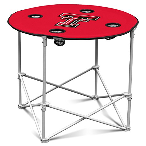 Texas Tech Red Raiders  Collapsible Round Table with 4 Cup Holders and Carry Bag