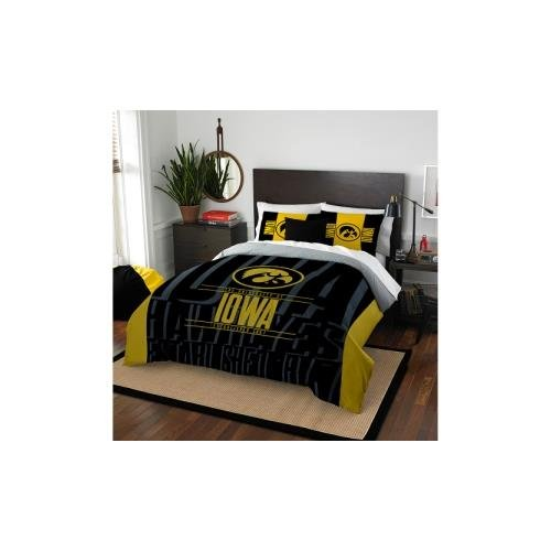 The Northwest Company Officially Licensed NCAA Iowa Hawkeyes Modern Take Full/Queen Comforter and 2 Sham (Iowa Hawkeyes Queen Comforter)