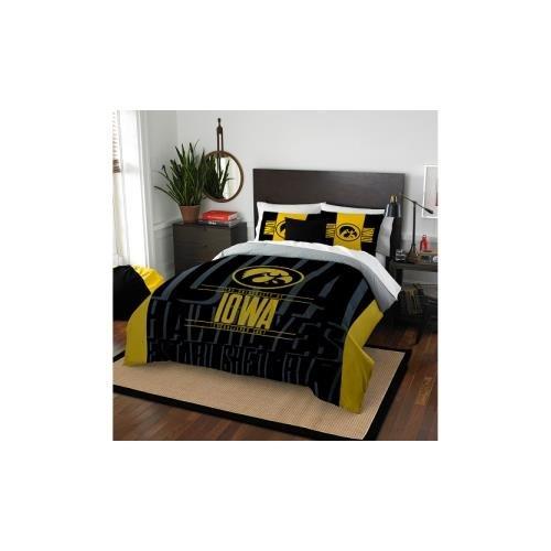Iowa Ncaa Hawkeyes (The Northwest Company Officially Licensed NCAA Iowa Hawkeyes Modern Take Full/Queen Comforter and 2 Sham Set)