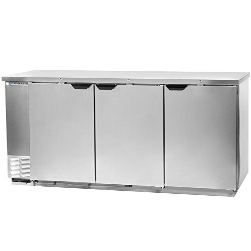 Beverage Air BB78F-1-S Three-Section Refrigerated Food Rated Back Bar Storage Cabinet 78