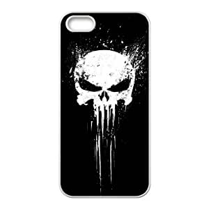 Bloody The Punisher Skull Logo iPhone 5 5s Cell Phone Case White AMS0661992