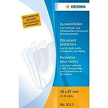 HERMA 5013 Polipropileno (PP) 25pieza(s) - Protector (58 x 87 mm, Transparente, Polipropileno (PP), 58 mm, 87 mm, 25 pieza(s))