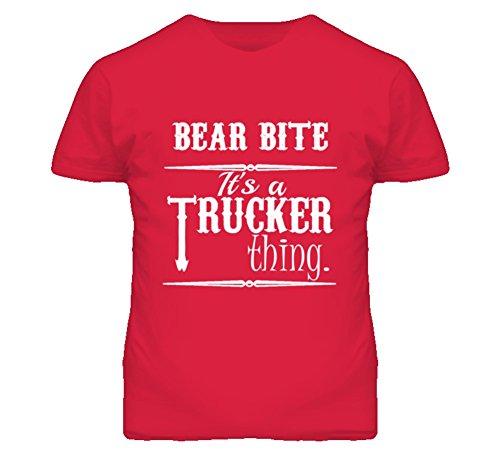 Its a Trucker Thing CB Slang Bear Bite Funny T Shirt XL Red (Bear Bite Shirt)