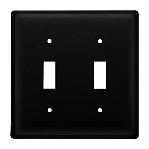 Iron Plain Double Switch Cover - Heavy Duty Metal Light Switch Cover, Electrical Outlet Covers, Lightswitch Covers, Wall Plate Cover