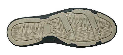 Andrew Fezza Af-s9607 Scarpe In Pelle Scamosciata Oxford Tinta Unita Zac Con Finitura In Pelle Blu Navy