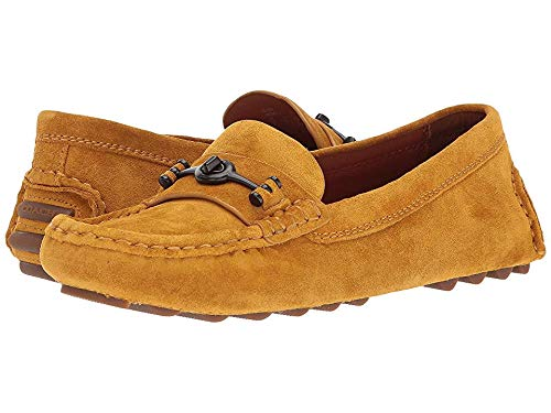 Coach Women's Crosby Driver Goldenrod Suede 8.5 M ()