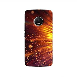 Cover It Up - Gold Exploding Moto G5 Hard Case