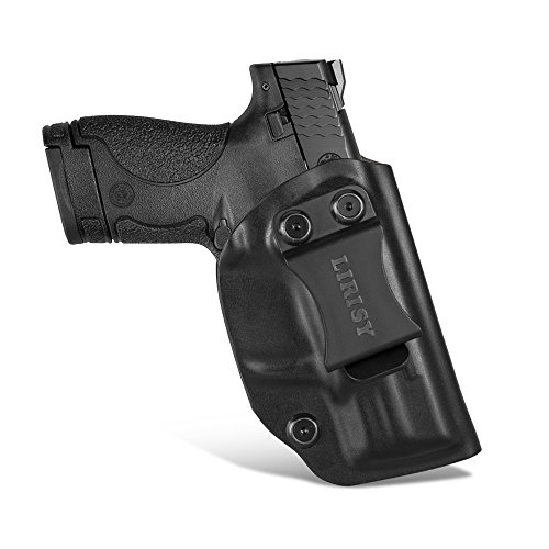 Kydex Gun Holsters - LIRISY Smith & Wesson M&P Shield 9MM/.40 IWB Holster for Concealed Carry, Inside The Waistband Pants Adjustable KYDEX Holster Fits S&W MP Shield