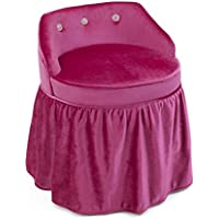 4D Concepts Zooey Girls Vanity Chair with Ruffle Bottom Skirt in Pink