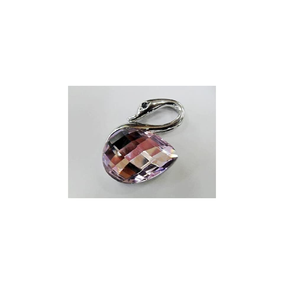 Pink Crystal Crane Design USB Flash Drive with necklace Electronics
