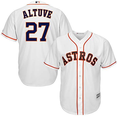Outerstuff Jose Altuve Houston Astros MLB Majestic Kids 4-7 White Home Cool Base Player Jersey (Kids 5/6)