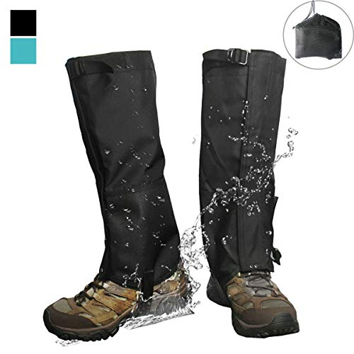 Frelaxy Leg Gaiters 900D Ultra Strong Waterproof Hiking Gaiters Snow Boot Gaiters Anti-Tear Oxford Fabric for Outdoor Walking Hunting Motorcycle for Men & Women