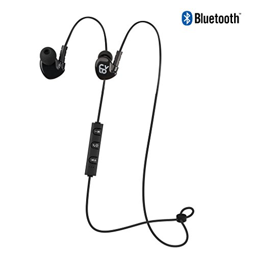 60a2d507b9c CYLO Endurance Wireless Bluetooth 4.0 In-Ear, Over-Ear Earbuds/Earphones/ Headphones, Secure Ergonomic Fit for Running, IPX4 Sweat-proof, In-Line  Microphone ...