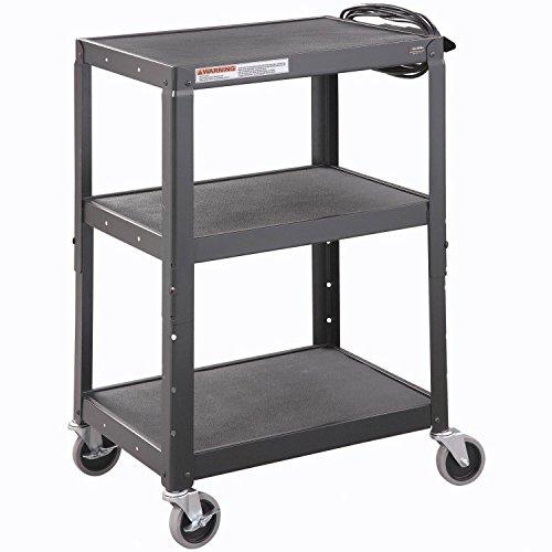 Steel Audio Visual & Instrument Cart - Black