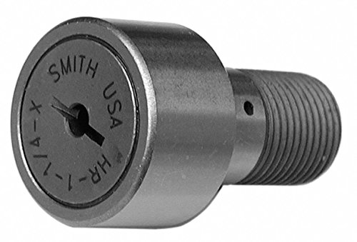 0.6250'' Roller Dia. Flat Heavy Stud Cam Follower;Screwdriver Slot Face Design by Smith Bearing