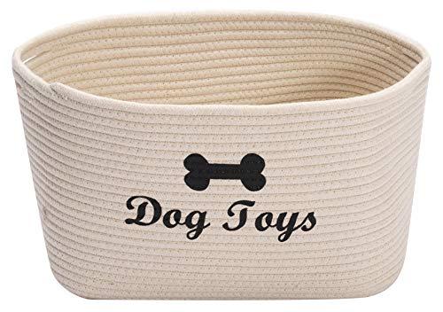 Morezi Runder Hundespielzeugkorb,aus Baumwollseil,mit Griff, leicht zu bewegen.Geeignet zum Aufbewahren von…