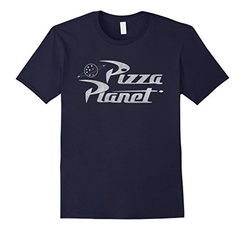 Mens Disney Toy Story Pizza Planet Logo Graphic T-Shirt Large Navy