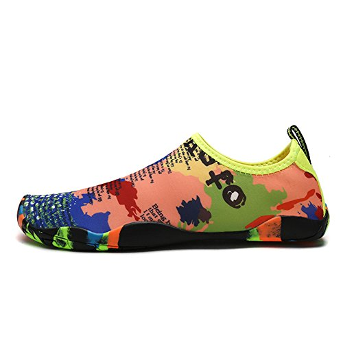 Water Shoes Uomo Donna Quick-dry Sports Water Pelle Scarpe Aqua Socks Calzature Barefoot Con Suola In Gomma Per Sport Acquatici Beach Pool Camp Yoga Fitness # 1