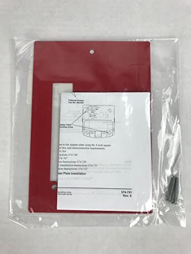 Simplex 4905-9903 Red Adapter Plate for 2975-9145