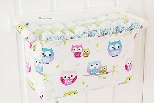 owl patterned diaper organizer hanging storage baby nursery room