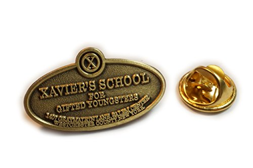 X-Men XMEN Xavier's School for Gifted Youngsters Plaque Hat Jacket Tie Tack Lapel Pin