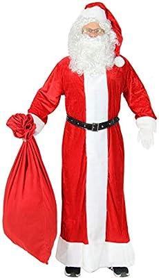 Foxxeo Traje de Papá Noel Premium de 5 Piezas con Abrigo para ...