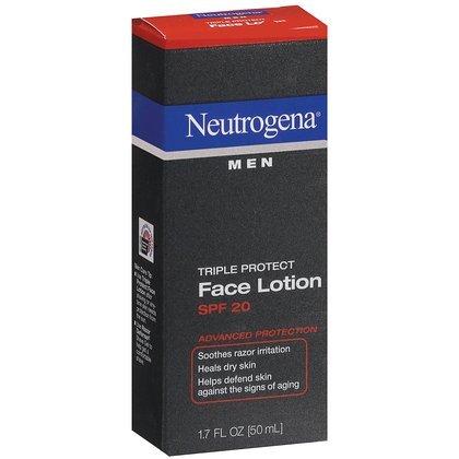 Neutrogena Hommes Triple Protect Lotion pour le visage SPF 20 à 1,7 oz (Pack de 4)