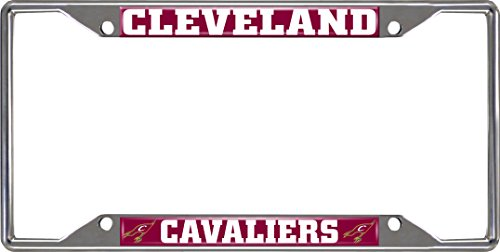 NBA Cleveland Cavaliers License Plate Frame, 6.25'' x 12.25''/Small, Black by Fanmats