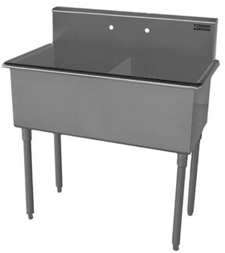 Bowl Scullery Sink (Griffin T60-288 Double Bowl Scullery Sink, Stainless Steel)
