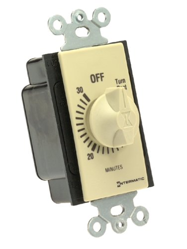 Ivory Timer - Intermatic FD30MC 30-Minute Spring-Loaded Wall Timer for Fans and Lights, Ivory