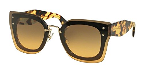 Miu Miu 04RS NAI0A3 Top Black Light Havana 04RS Square Sunglasses Lens - Buy Sunglasses Miu Miu