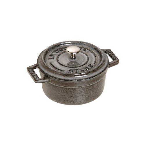 Staub 1101218 Round Cocotte Oven, 0.5 quart, Graphite Grey