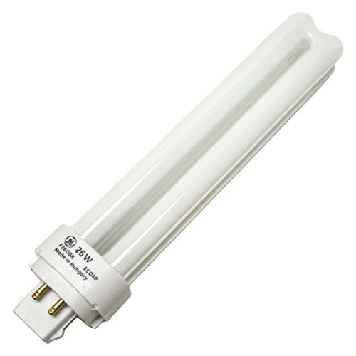 (10 Pack) GE 97613 - F26DBX/841/ECO4P - 26 Watt Quad-Tube Compact Fluorescent Light Bulb, 4 Pin, 4100K