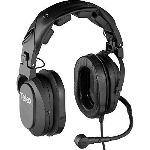 Telex HR-2R Dual Sided Cushion Noise-Cancelling Headset with RTS Connector & A4M Connector, 50Hz-15kHz Headset Frequency, 150Ohms Headset & Mic Impedance (Telex Receiver)