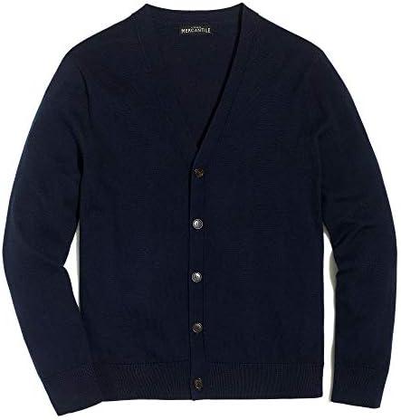 (ジェイクルー マーカンタイル)J.Crew Mercantile メンズ Men's セーター カーディガン Cardigan Sweater In Perfect Merino Wool Blend ネイビー Navy [並行輸入品]