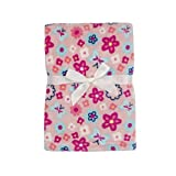 Baby Gear Plush Boa Ultra Soft Baby Girls Blanket 30 x 40 Floral Coral Petals by Baby Gear